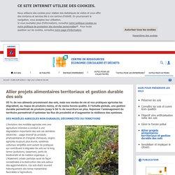 ADEME Allier 03/11/19 Projets alimentaires territoriaux et gestion durable des sols