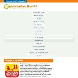 Piramide alimentare - Alimentazione bambini Alimentazione bambini
