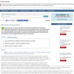 Resolución de 31 de julio de 2014, de la Agencia Española de Consumo, Seguridad Alimentaria y Nutrición, por la que amplía el anexo de la Resolución de 21 de junio de 2004, por la que se acuerda la publicación de las referencias de las normas UNE EN armon