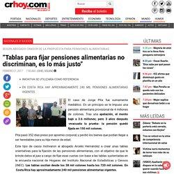 """""""Tablas para fijar pensiones alimentarias no discriminan, es lo más justo"""""""