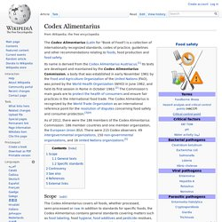 Wikipedia Codex Alimentarius
