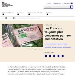 Les Français toujours plus concernés par leur alimentation
