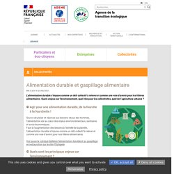 Alimentation durable et gaspillage alimentaire