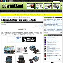 Test alimentation Super Flower Amazon 550 watts - Alimentations : L'alimentation