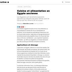 Cuisine et alimentation en Egypte ancienne