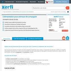 Etude de marché alimentation pour animaux de compagnie Xerfi
