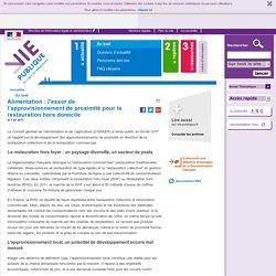 VIE PUBLIQUE 07/03/17 Alimentation : l'essor de l'approvisionnement de proximité pour la restauration hors domicile