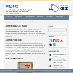 Alimentation d'atelier maison - World of GZ