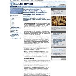 La Journée mondiale de l'alimentation 2004 souligne l'importance de la biodiversité pour la sécurité alimentaire mondiale