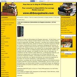Traité de la médecine d'alimentation et d'hygiène naturistes - Dr Paul Carton - DTR bouquinerie