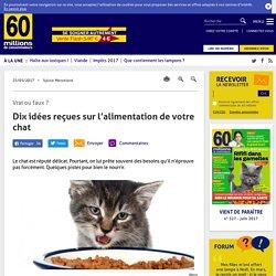 60 MILLIONS DE CONSOMMATEURS 23/05/17 Vrai ou faux ? Dix idées reçues sur l'alimentation de votre chat