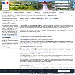 PREFECTURE DE LA MEUSE 17/12/13 Les solutions hydro alcooliques sont-elles efficaces ?