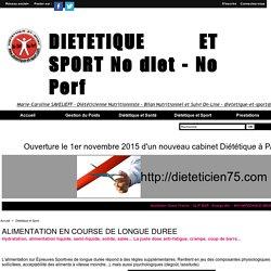 ALIMENTATION EN COURSE DE LONGUE DUREE