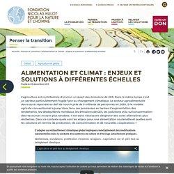 FONDATION NICOLAS HULOT 09/12/15 Alimentation et Climat : enjeux et solutions à différentes échelles