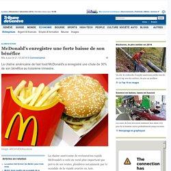 Alimentation: McDonald's enregistre une forte baisse de son bénéfice - News Économie: Entreprises