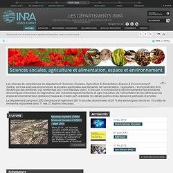 Département SAE2 - Sciences sociales, agriculture et alimentation, environnement et espace