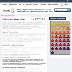 ANSES - JANVIER 2011 - Les instances de gouvernance de l'Anses