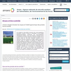 Anses et bio-contrôle