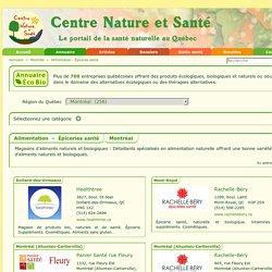 Annuaire Éco Bio - Montréal - Alimentation - Épiceries santé