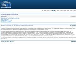 PARLEMENT EUROPEEN - Réponse à questionP-010663-15Alimentation des rats destinés à l'expérimentation animale