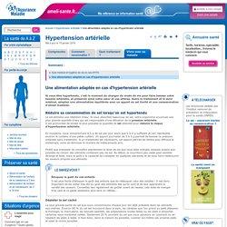 Une alimentation adaptée en cas d'hypertension artérielle