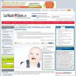 Les laits pour bébé - Les meilleurs laits infantiles pour bébé avant 6 mois