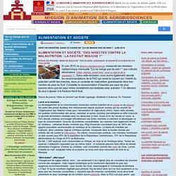 """Alimentation et société. """"Des insectes contre la malnutrition : la FAO fait m..."""