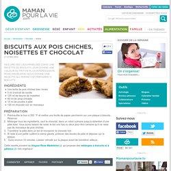 Biscuits aux pois chiches, noisettes et chocolat - Alimentation - Recettes