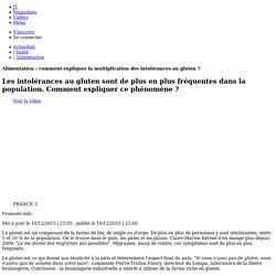 FRANCE 2 10/12/15 JT20H Alimentation : comment expliquer la multiplication des intolérances au gluten ?.