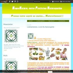 L'alimentation, l'avis du Naturopathe