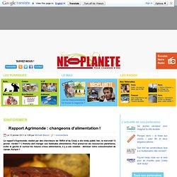 Rapport Agrimonde : changeons d'alimentation ! - Néoplanète