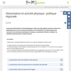 Alimentation et activité physique : politique régionale