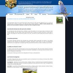 Alimentation de votre perruche ondulée, millet, graines, salade, fruit-Les Perruches ondulées,psittacidé, oiseaux, alimentation, cage, maladie