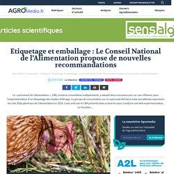 Etiquetage et emballage : Le Conseil National de l'Alimentation propose de nouvelles recommandations