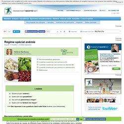 Alimentation spéciale en cas d'anémie par carence en fer