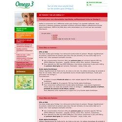 omega3.be // Conseils pour une alimentation équilibrée, suffisamment riche en Oméga 3.