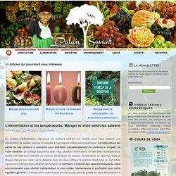 L'alimentation et les températures: Manger et vivre selon les saisons