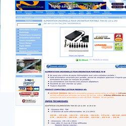 ALIMENTATION UNIVERSELLE POUR ORDINATEUR PORTABLE 70W DE 12V a 24V - Spécialiste Alimentation Batterie Adaptateur transfo 12V 19V 2A 1.7A 1.5A 1.2A 1.25A free freebox
