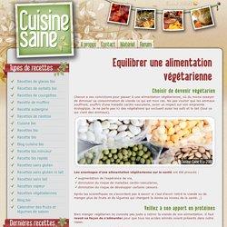 Equilibrer une alimentation végétarienne