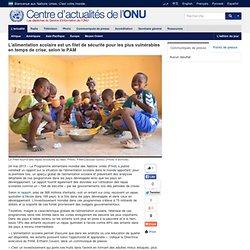 ONU 24/05/13 L'alimentation scolaire est un filet de sécurité pour les plus vulnérables en temps de crise, selon le PAM