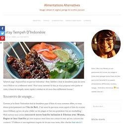 Satay tempeh d'Indonésie - Alimentations Alternatives