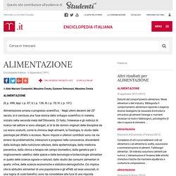 """ALIMENTAZIONE in """"Enciclopedia Italiana"""""""