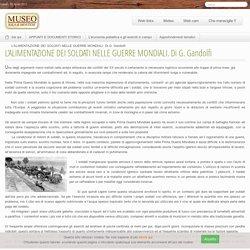 L'ALIMENTAZIONE DEI SOLDATI NELLE GUERRE MONDIALI. Di G. Gandolfi
