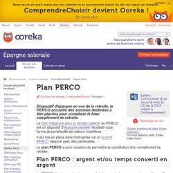 Plan PERCO : alimenter et gérer le PERCO - ComprendreChoisir