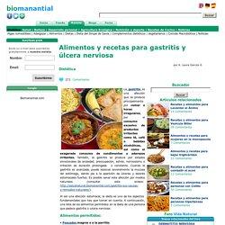 Alimentos y recetas para gastritis y úlcera nerviosa