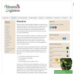 Nosotros - Alimentos Organicos y Naturales