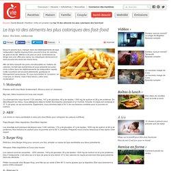 Le top 10 des aliments les plus caloriques des fast-food