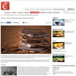 Top 10 des aliments pour rester mince - Infos et conseils nutrition