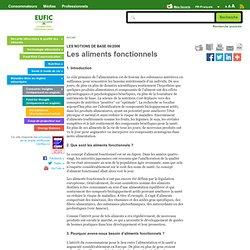 EUFIC - Les aliments fonctionnels
