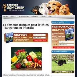 14 aliments toxiques pour le chien - aliments interdits aux chiens